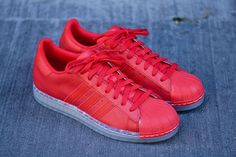 "adidas Superstar CLR ""Vivid Red"" (Part of my Superstar Collection)"