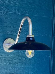 """12"""" Sinclair, 705-Navy, G26 Gooseneck Arm in 980-Brushed Aluminum 