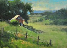 """In the Country"" 6X8 plein air oil Getting excited to paint in the Douglas Land Conservancy Plein Air again this year! One month away!! To learn more: http://douglaslandconservancy.org/upcoming-events/plein-air"
