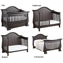 eco chic baby dorchester 4in1 convertible crib with storage drawer slate - Convertible Baby Cribs