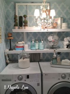 With a Sparkle: Laundry Room Inspiration