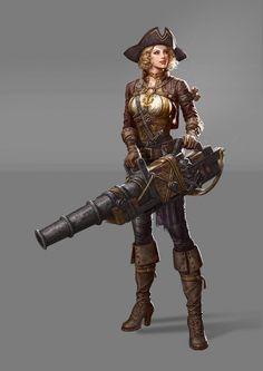 The artillery of pirate, Hi poc on ArtStation at https://www.artstation.com/artwork/the-pirate-artillery