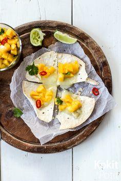 Kokit ja Potit -ruokablogi: Helpot quesadillat mangosta ja valkohomejuustosta