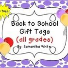Looking for adorable back to school gift tags?  These tags are perfect for your back to school treats/treat bags!  There are 16 different gift tags...