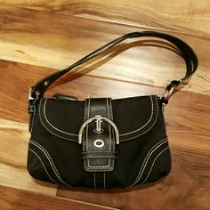 NWOT Coach Monogram Small handbag authentic Another one of my mom's bought and unused items. Interior and exterior clean of defects. Coach Bags