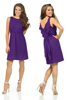Game-Day Dresses! Purple and perfect for LSU, TCU, etc!