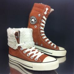 c7fc77e96337 Converse All Star womens Brown Suede Boots sz 4 Fold Down VTG mens 36.5 US6  in