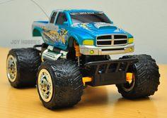 model blue dodge ram monster truck