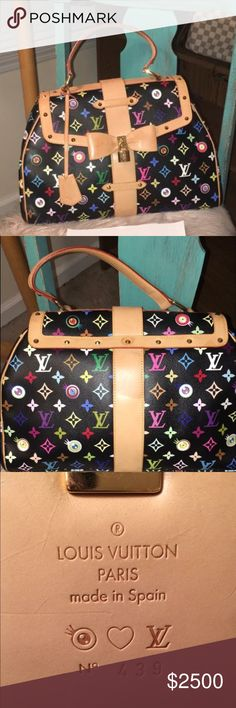 Rare Eye Love You Limited Edition Gorgeous condition! This bag is limited Edition so only a select number of these were made worldwide. Absolutely gorgeous bag! Louis Vuitton Bags