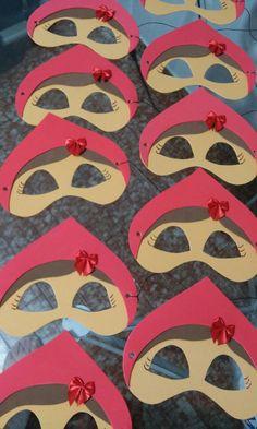 Mascara para festa tema chapeuzinho vermelho