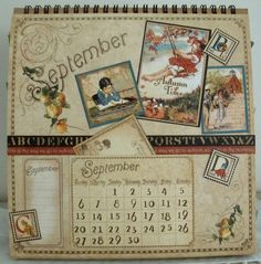 Graphic 45 Calendar Pages | Graphic+45+Easel+Calendar+-+Place+In+Time+-+September+-+Artistic+Hen ...