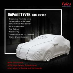 Polco Dupont Tyvek protects your car from harmful UV Rays, Keeps your cool, Breathable Fabric to avoid condensation under cover and Highly Water Resistant..  Know more: www.polcoindia.com #safelyrakho #polcocover