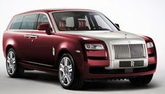 2017 Rolls-Royce SUV dark red