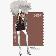 Cognac Pantone Fall 2014, sketch by SAUNDER by Emily Saunders