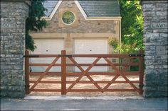 simple diy driveway gates