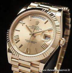 Rolex Day-Date 40 or jaune : prix, photos uniques et caractéristiques de cette montre de sport chic