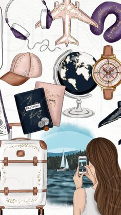 15 Ideas for travel drawing ideas illustration Moda Wallpaper, Tumblr Wallpaper, Wallpaper Backgrounds, Wallpaper Art, Disney Wallpaper, Jesus Wallpaper, Cute Girl Wallpaper, Cartoon Wallpaper, Nature Wallpaper