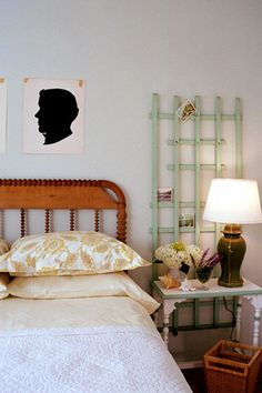 lattice for scarf storage or whatever? spray paint a piece of lattice and lean up in guest bedroom