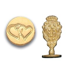 """Brass Wax Seal with Double Heart engraving to make a detailed impression. Made by Italian craftsmen in Florence Italy. Handle is 1 ¼ inches tall with ¾"""" impression. Wedding Symbols, Drama Masks, Tudor Rose, Alphabet Stamps, Symbol Design, Halloween Sale, Wax Seal Stamp, Some Cards"""