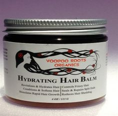 Organic Hydrating Hair Balm by VOODOOROOTSORGANICS on Etsy
