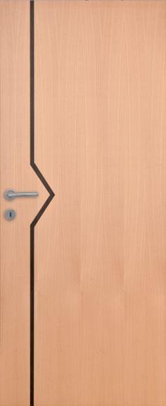 Porte intérieure contemporaine hêtre vernis naturel satiné Portes