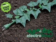 ElectroVine is a six-foot electrical extension cord disguised as a green ivy plant with leaves sprouting out from all sides. The cord was designed to look Outdoor Extension Cord, Extension Cords, Outdoor Projects, Outdoor Ideas, Indoor Outdoor, Diy Projects, Outdoor Stuff, Outdoor Spaces, Ideas