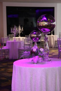 Wintry Holiday Cocktail Party, US Bank Stadium - Linen Effects wedding, party, and event rental decor, Minneapolis MN - www.lineneffects.com