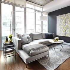 Living Room Grey And Yellow Livingroom Design, Pictures, Remodel, Decor and Ideas