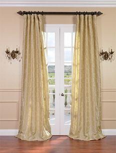 Marakesh Sand Faux Silk Curtains & Drapes