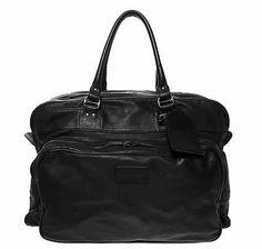 Dsquared2 Men's Black Leather Bag Weekend Holdall Business Travel Great Gift | eBay