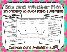 Box and Whisker Plot No Prep Interactive Notebook Pages CCSS: 6.SP.4