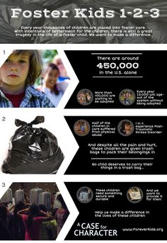 Every year thousands of children are placed in foster care. They are also given trash bags for their belongings. Let's make a difference www.foreverkids.org