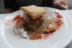Milhojas de magret de pato y foie, de 'Bazaar' (Madrid-Spain)