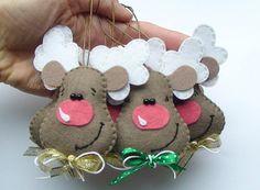 Set di 5 feltro renne decorazione di Natale le di DevelopingToys