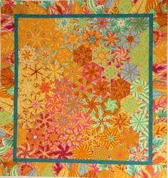 One Block Wonder quilt-- texture and pattern