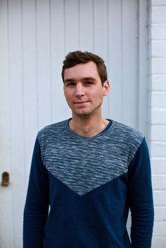 Men's Waffle Sweater BLUE. Designed in Melbourne. Ethically made in Indonesia.