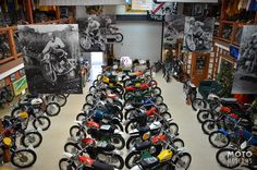 The Early Years of Motocross Museum in Villa Park, CA houses more than 100 rare machines. Heaven for the vintage dirt bike enthusiast.