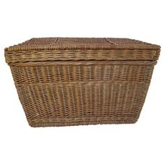 Check out this item at One Kings Lane! 1940s French Willow Trunk