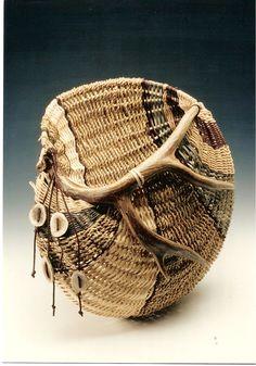 Antler Basketry - Wall Pocket
