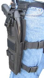 Shotgun thigh holster..... in leather maybe