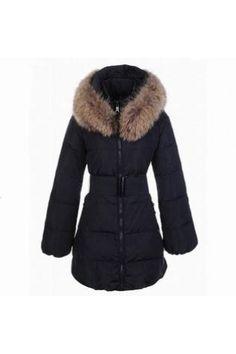 Moncler Women's Sauvage Black Coat