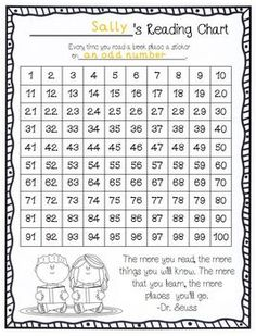 FREE! Reading & Hundreds chart in ONE! Use this as a reading incentive chart that also gives students basic math practice or review!