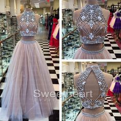 Light Champagne Tulle Long Prom Dress,prom dresses,long prom dress.formal dress,evening dress #promdress #prom #dress