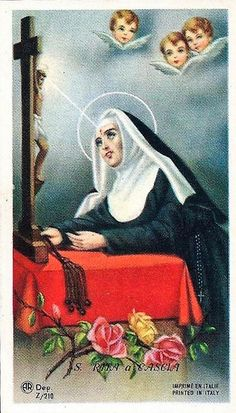 Sainte Rita, St Rita Of Cascia, Novena Prayers, Virgin Mary, Catholic, Faith, Cards, Painting, Saints
