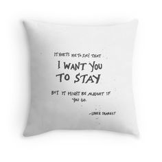 Marianas Trench Love Dearest lyric quote Throw Pillows