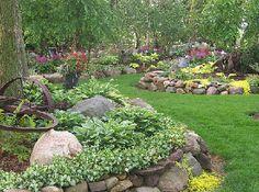 rock garden designs river and act as a natural guiding, 342x255 in 240.9KB