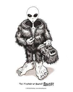 AH HA! #alien #bigfoot #paranormal #sasquatch #humor