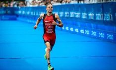 Team Canada - In the sweltering Tokyo heat, triathlete Tyler Mislawchuk crossed the finish line first at the Tokyo 2020 test event on Friday held at Odaiba Marine Park. Tokyo 2020, Finish Line, Triathlon, Olympics, Competition, Running, Sports, Thanksgiving, Canada