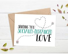 humor about social distancing \ humor about social distancing Birthday Cards For Friends, Diy Cards For Friends, Birthday Wishes, Birthday Gifts, I Miss You Card, Jw Gifts, Mail Gifts, Best Friend Cards, Etsy Cards