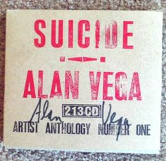 Suicide Alan Vega Anthology Signed Way of Life Ltd Ed Numbered Promo Foldout | eBay